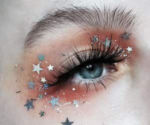 makeup, stars, and eyes image