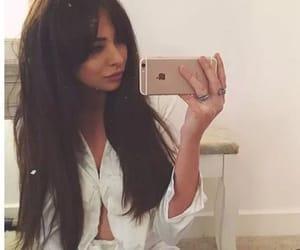bangs, brunette, and fringe image