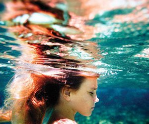 girl, water, and underwater image
