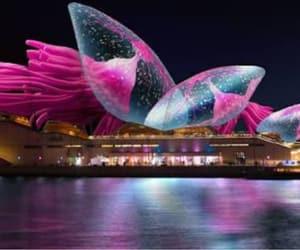 architecture, lighting, and sydney opera house image