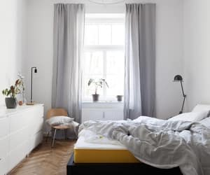 bed, decor, and bedding image