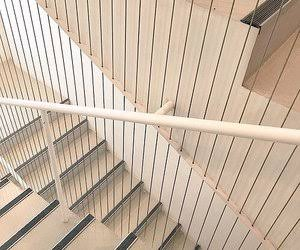 beige, aesthetic, and stairs image