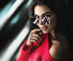 Chica, gafas, and window image