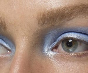 blue, makeup, and Versace image
