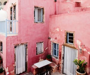 architecture, pink, and sun image