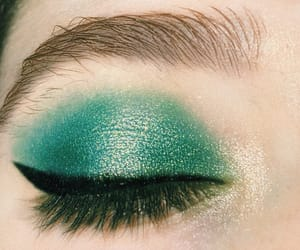 dark, eyeliner, and green image