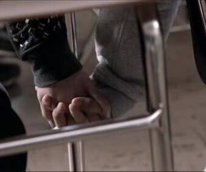 teen wolf, scallison, and holding hands image