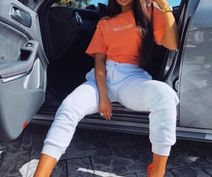 car, fashion, and orange image