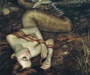 mermaid, art, and fantasy image