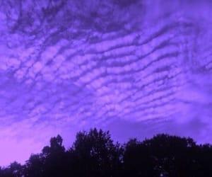 purple, sky, and tumblr image