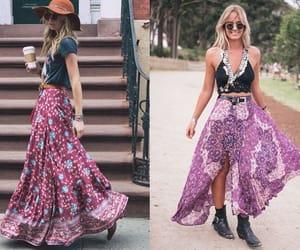 boho, coachella, and fashion image
