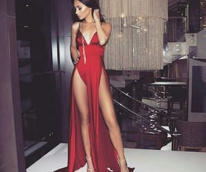 red, dress, and luxury image