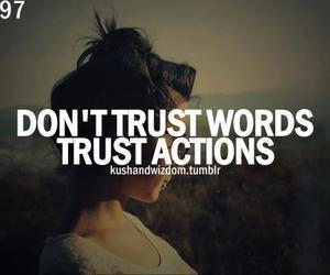 trust, words, and Action image