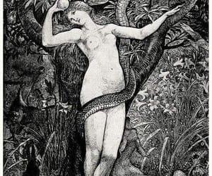 adam and eve, art, and walter crane image