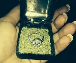 weed, ring, and marijuana image
