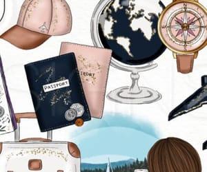 travel, background, and passport image
