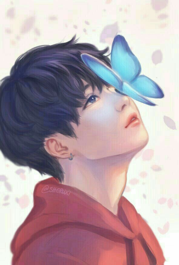 fanart, butterfly, and bts image