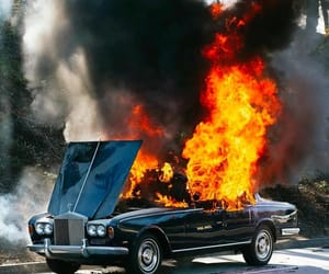 cars, fire, and flames image