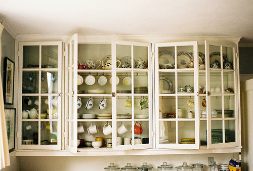 cabinet, dishes, and interior image