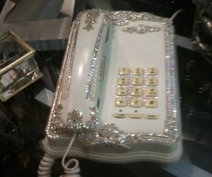 phone, vintage, and glitter image