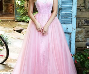 blush prom dresses and cheap evening gowns image
