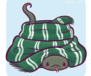 slytherin, snake, and harry potter image