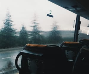 bus, cold, and empty image