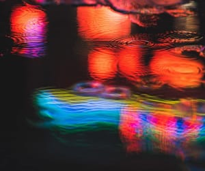 lights, neon, and night image