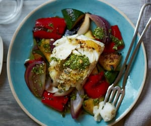 fish, healthy, and herb image