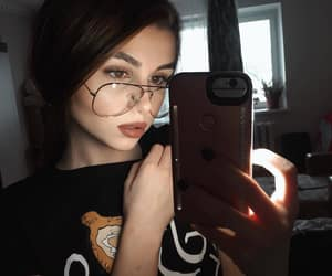 beauty, girl, and glasses image