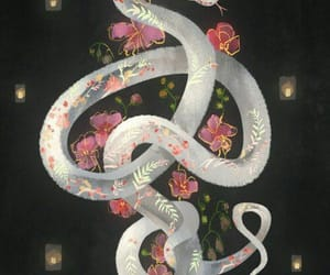 art, snake, and grunge image