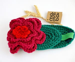 etsy, flower hat, and knitted headband image