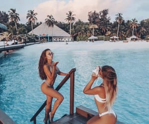 beach, follow me, and best friends image