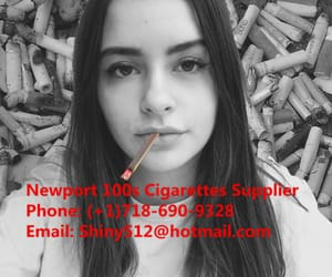 cigarettes, newport 100s cigarettes, and girl smoking image