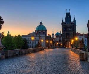 czech, prague, and bridge image