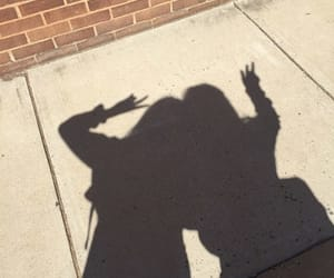 shadow, friends, and aesthetic image