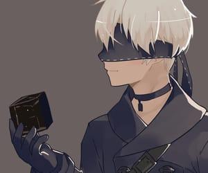 anime, blindfold, and boy image