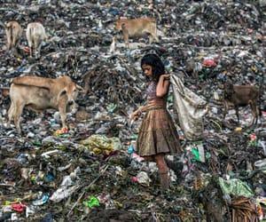 pollution, rubbish, and sad image