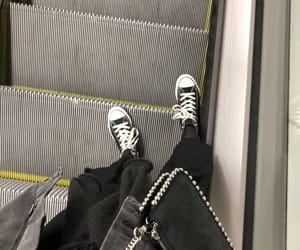 bag, black, and converse image