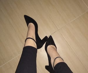 heels, night, and shoes image