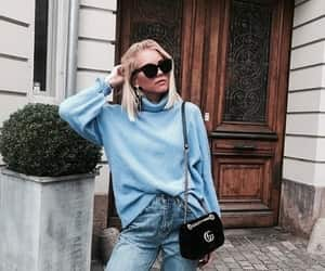 fashion, sweater, and jeans image
