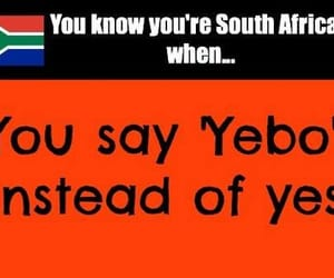south africa, yes, and yebo image