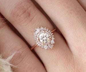 jewelry, rosegold, and ring image