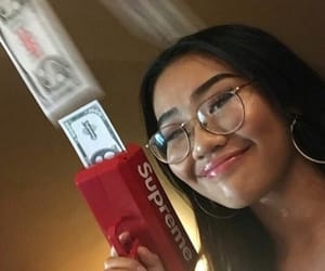 girl, glasses, and money image