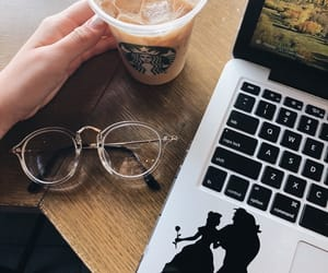 coffee, computer, and cool image