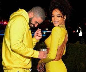 Drake, rihanna, and yellow image