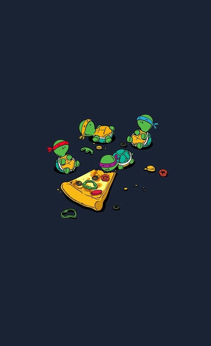 cartoon, ninja turtles, and wallpaper image