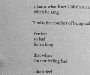 depression, kurt cobain, and sad image
