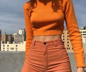 orange, fashion, and girl image