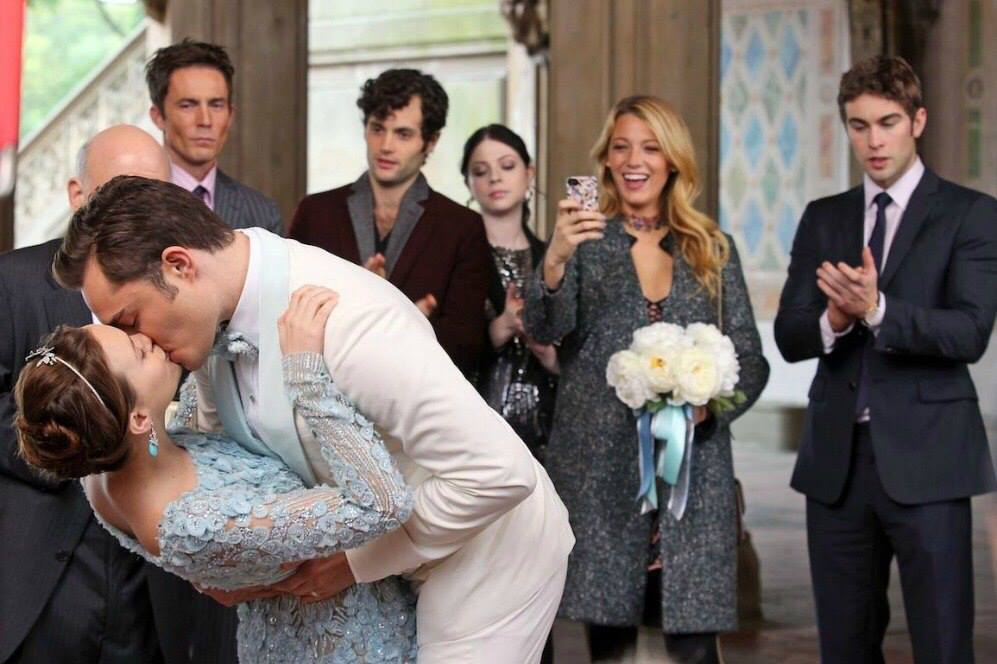 gossip girl, chuck bass, and wedding image